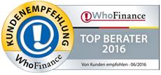 Die Top Berater nach WhoFinance 2016